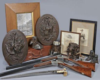 Meubles et objets d'art - Chasse - Gravures