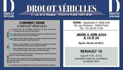 Vente à Drouot-Véhicules