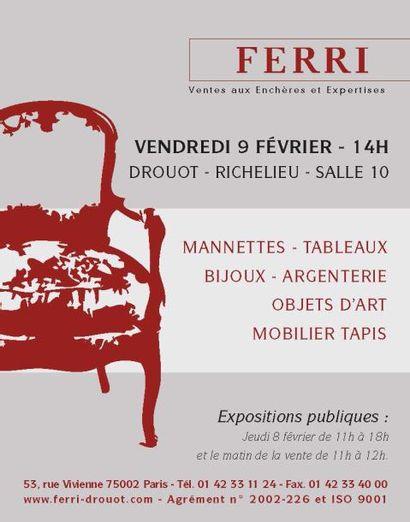 VENTE CLASSIQUE Mannettes Tableaux Bijoux Argenterie Objets d'art Mobilier Tapis