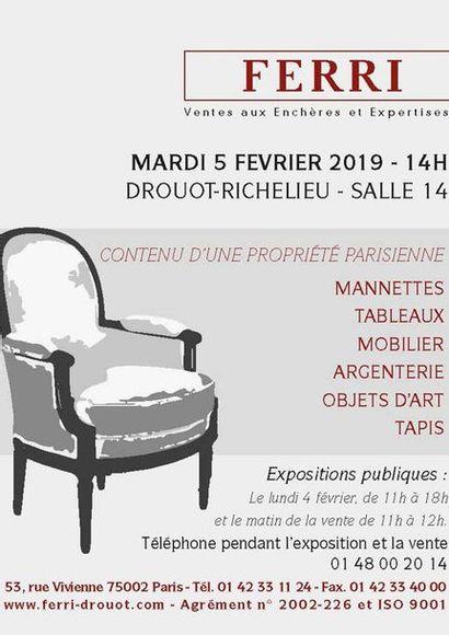 Contenu d'une propriété parisienne