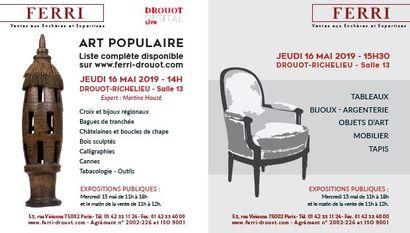 BIJOUX ET OBJETS D'ART POPULAIRE -  VENTE CLASSIQUE