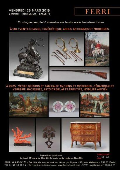 Dessins, tableaux anciens et modernes, céramique et verrerie anciennes, arts d'Asie, arts primitifs et mobilier ancien