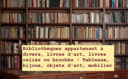 Bibliothèques de livres beaux-arts, livres reliés et brochés - Tableaux, bijoux, objets d'art, mobilier