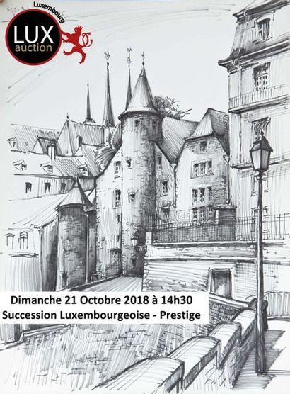 Succession Luxembourgeoise de Mme L et a divers  Prestige Mobilier et Objets d'Art Tableaux, Montres, Pendules anciennes, Vins.