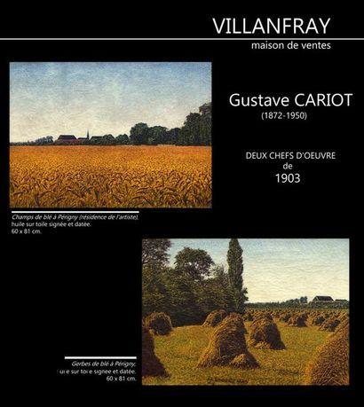 DEUX CHEFS d'OEUVRE de Gustave CARIOT (1872-1950) de 1902 et 1903