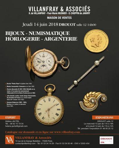 BIJOUX ANCIENS & MODERNES ARGENTERIE, NUMISMATIQUE HORLOGERIE & MONTRES