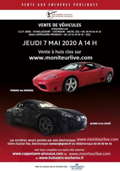 VENTE DE VÉHICULES - sur www.moniteurlive.com