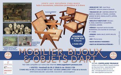 Tableaux, mobilier et objets d'art, bijoux