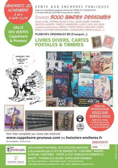 [VENTE MAINTENUE] Vente B.D, planches et dessins originaux, livres de collection et divers