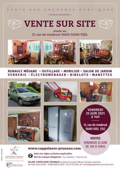 Vente contenu de maison sur site 13 rue de Rondeval 55000 FAINS VEEL