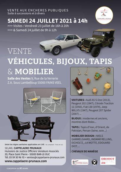 Vente Voitures Bijoux et Tapis