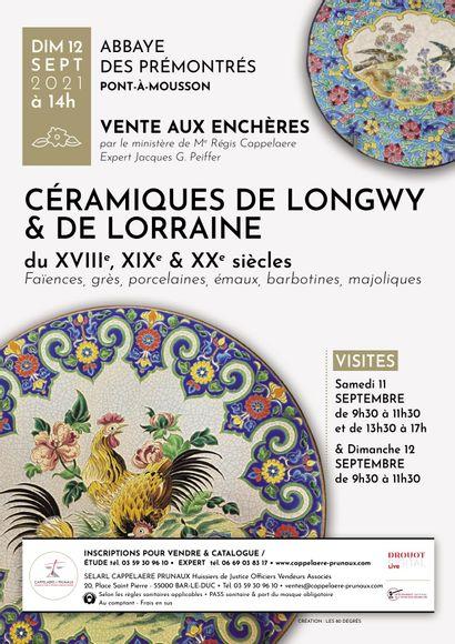 Auction Ceramics of Longwy et de Lorraine - Abbaye des Prémontrés