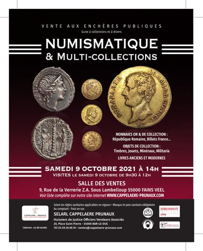 DIGITAL SALE (gold coins and collections) AND MULTICOLLECTIONS (minerals and fossils, stamps, toys, books...) : in preparation