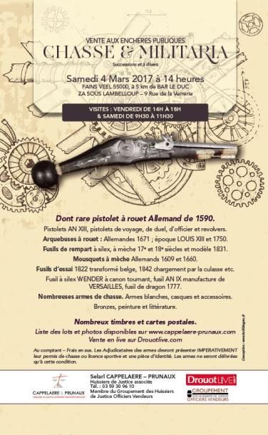 Chasse - militaria & timbres