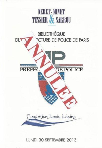 VENTE ANNULÉÉ - Bibliothèque de la Préfecture de Police de Paris.