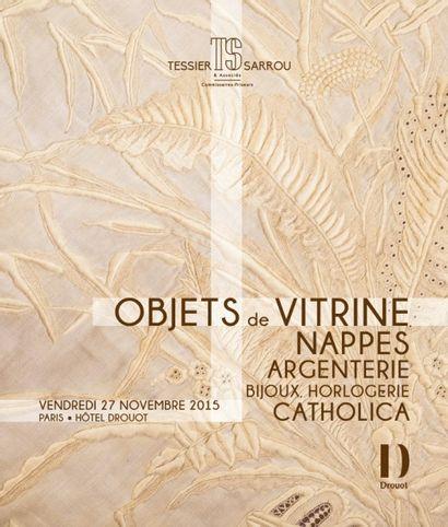 OBJETS DE VITRINES, ARGENTERIE, BIJOUX, CATHOLICA, MONTRES