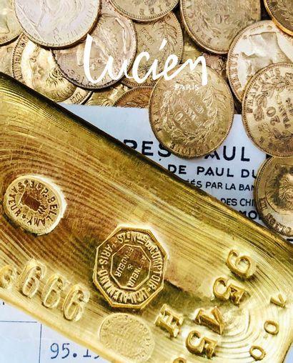 GOLD INGOTS, GOLD COINS, GOLD JEWELLERY. THE CONTENTS OF A SAINT-MAUR-DES-FOSSÉS ESTATE, AFTER SUCCESSION, 2nd SALE