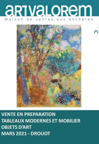 TABLEAUX MODERNES - MOBILIER - OBJETS D'ART