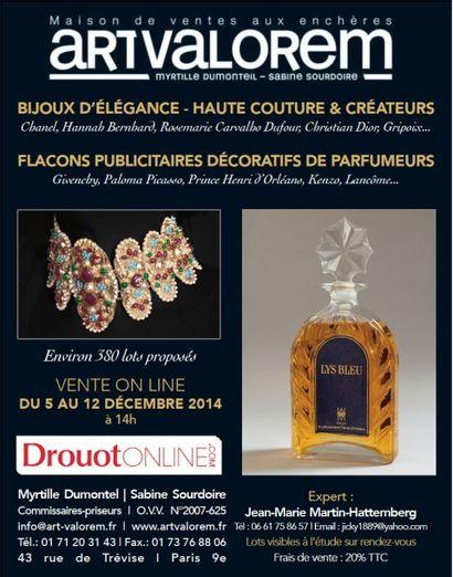 BIJOUX - HAUTE COUTURE - FLACONS DE PARFUM