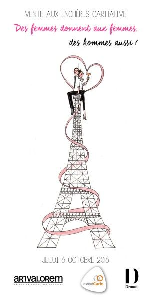 DES FEMMES DONNENT AUX FEMMES, DES HOMMES AUSSI! Vente au profit de l'Institut Curie