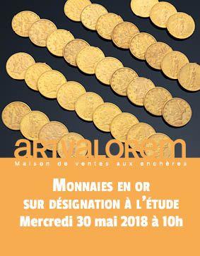 Vente de monnaies en or sur désignation