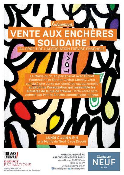 VENTE AUX ENCHÈRES SOLIDAIRE AU PROFIT DE L'ASSOCIATION TRÉVISE ENSEMBLE