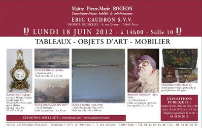 TABLEAUX - OBJETS D'ART - MOBILIER