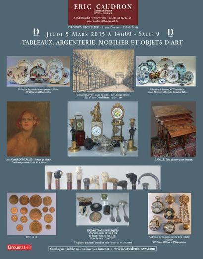 Tableaux, argenterie, mobilier et objets d'art