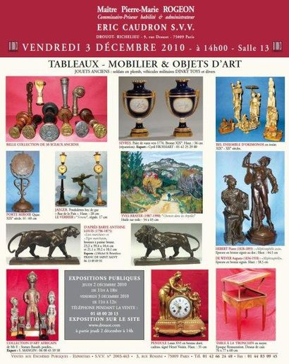 TABLEAUX - MOBILIER & OBJETS D'ART - JOUETS ANCIENS...