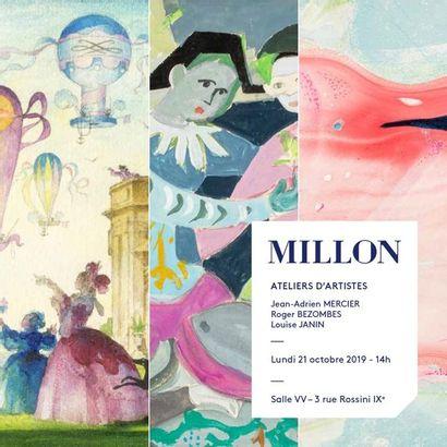 ATELIERS D'ARTISTES : Jean-Adrien Mercier - Roger Bezombes - Louise Janin