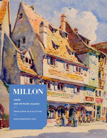 Jean-Jacques WALTZ dit HANSI (1873-1951)<br> <br>Une Vie pour l'Alsace<br><br>[vente online du 25 au 28 mai 2021, sur www.artprecium.com]