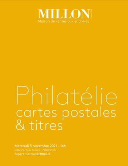 Philatélie cartes postales & titres<br><br>[Salle VV, Paris]