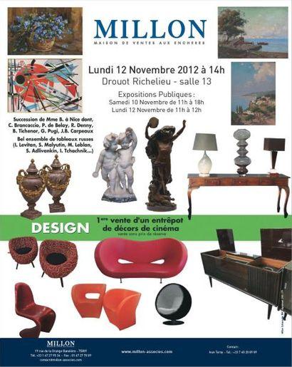 Tableaux, mobilier et objets d'art, décors de cinéma...