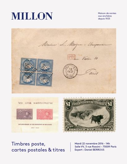 TIMBRES - POSTE<br> CARTES POSTALES & TITRES