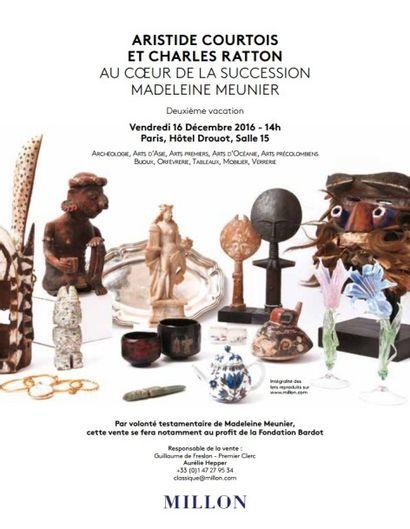 ARISTIDE COURTOIS<BR>& CHARLES RATTON<br>Au coeur de la succession Madeleine Meunier<br>& à divers<br><br>