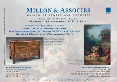Meubles et objets d'art - livres - tableaux...