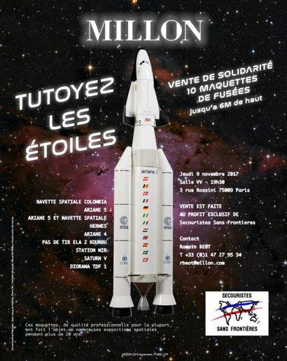 TUTOYEZ LES ÉTOILES<br>dix maquettes de fusées<br>au profit de Secouristes Sans-Frontières