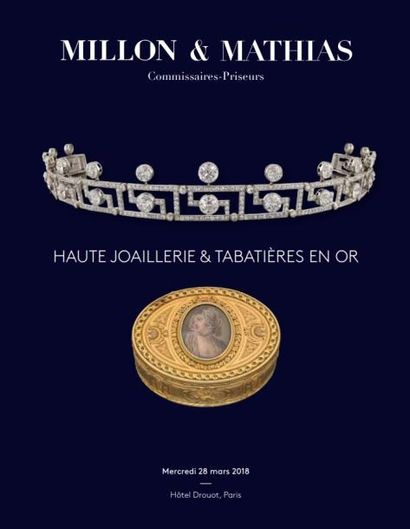 Haute joaillerie, collection de tabatières en or constituée au XIXe siècle