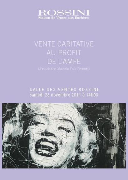 VENTE CARITATIVE AU PROFIT DE l'AMFE (Association Maladies Foies Enfants)