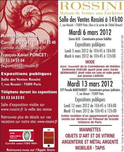 Mobilier-Objets d'Art - Vente reportée le 15 mars à 13h30
