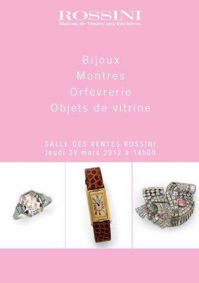 Or, Bijoux, Montres,Orfèvrerie, Objets de vitrine