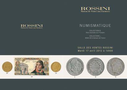 Très importante collection de monnaies d'or et d'argent : Ier Empire et Napoleonide et divers...