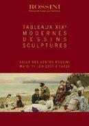 TABLEAUX XIXe MODERNES, DESSINS, SCULPTURES