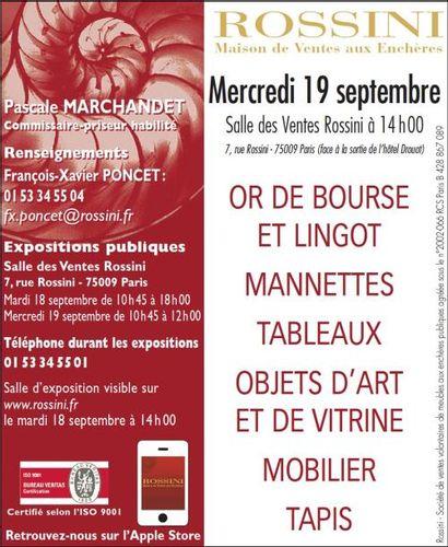 OR DE BOURSE, LINGOT ET MOBILIER-OBJETS D'ART