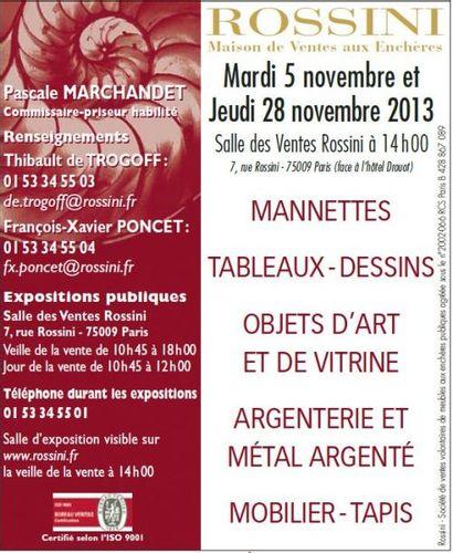 Mannettes, Tableaux, Dessins, Objets d'Art et de Vitrine, Argenterie et Métal Argenté, Mobilier, Tapis