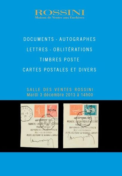 Timbres poste, lettres, cartes postales, documents