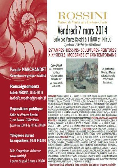 Estampes, Photographies, Dessins, Sculptures, Peintures XIXe Modernes et Contemporains vente à 11 h 00 et 14 h 00