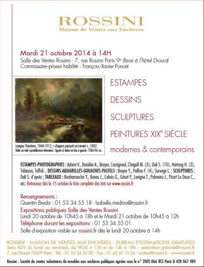 Estampes, dessins, sculptures, peintures du XIXe, modernes et contemporains