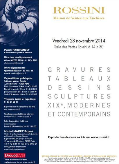 Tableaux et Sculptures modernes et contemporains 1ère partie