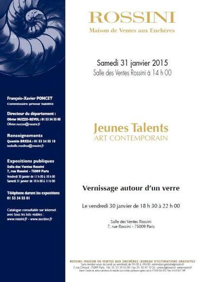 VENTE DE JEUNES TALENTS ART CONTEMPORAIN